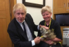 Boris Johnson with Harry Potter the Dog
